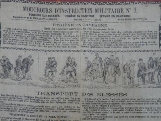 Mouchoir d'instruction militaire n°7