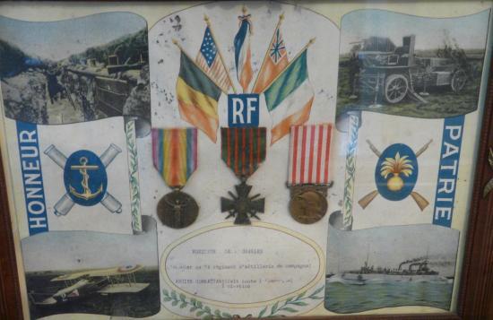 Médailles du 7ème régiment d'artillerie de campagne